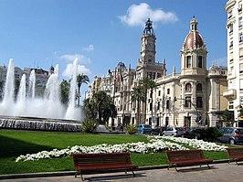Modernisme Plaza of the City Hall of Valencia