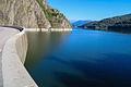Pohled na přehradu z hráze.JPG