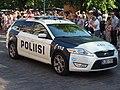 Police car at Helsinki Samba Carnaval 2019.jpg