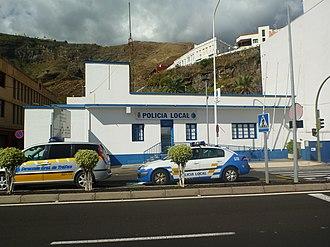 Municipal police (Spain) - Police station of the Policia Local on island La Palma