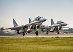 Polish MiG-29s take off from RAF Brize Norton.jpg