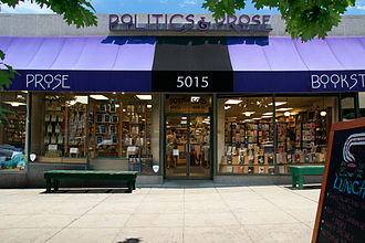 Politics and Prose - A storefront view of Politics and Prose during the daytime