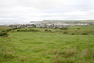 Portballintrae - Portballintrae from the A2 road to Bushmills.