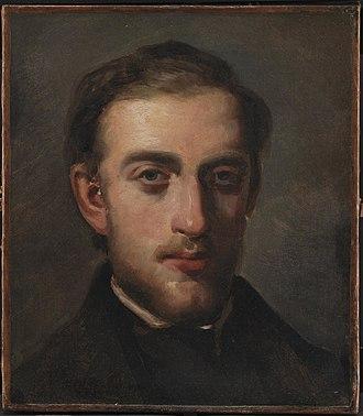 Fritz Melbye - Image: Portræt af maleren Fritz Melbye