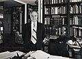 Portré, 1982, Király István irodalomtörténész, országgyűlési képviselő, a Magyar Tudományos Akadémia tagja. Fortepan 101088.jpg