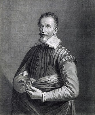 Portrait of an Actor - Image: Portrait de Comédien, etching and engraving after Domenico Fetti Gallica 2011 (cropped, adjusted)