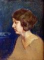 Portret žene na plavoj pozadini, Hristifor Crnilović.jpg