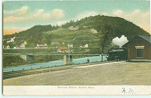 Russell, Massachusetts - Railroad station, circa 1901-1907