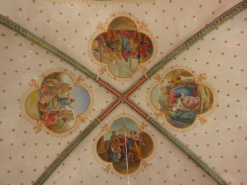 Église Saint-Martin de Preéaux (53). Intérieur. Voûtes.