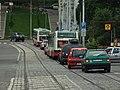 Praha, Smíchov, Na Knížecí, kolona.JPG