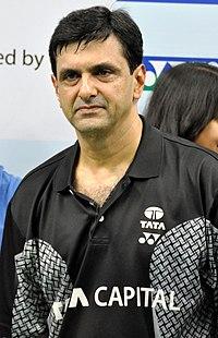 Prakash Padukone at the Tata Open championship.JPG