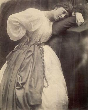 "English: ""Pre-Raphaelite Study,"" 1870"