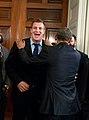 President Barack Obama jokes with Rob Gronkowski.jpg