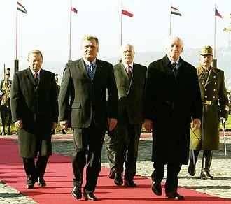 Ferenc Mádl - Presidents of the Visegrád Group in 2003, Budapest.