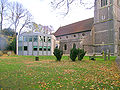 Princes Risborough church from NW and parish rooms.jpg