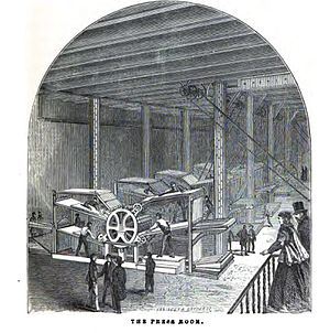 Public Ledger (Philadelphia) - The press room of the Public Ledger, 1867