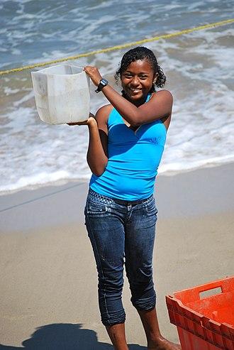 Costa Chica of Guerrero - Afro-Mexican girl at Punta Maldonado