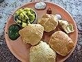 Puri Bhajji in Mumbai Restaurant.JPG