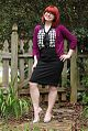 Purple Cardigan, Black Pencil Skirt, Checkered Top, and Silver Heels (17632734246).jpg
