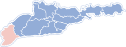 Location of Putilas rajons