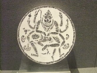 Hinduism in China - Hindu relief, Quanzhou Museum. The image depicts Narasimha legend for the festival of Holika and Holi.