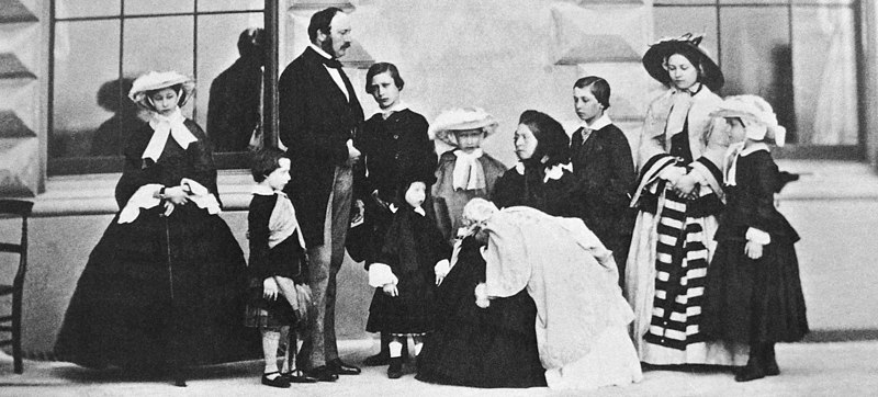 Queen Victoria Prince Albert and their nine children.JPG