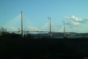 Queensferry Crossing - The Queensferry Crossing in March 2017