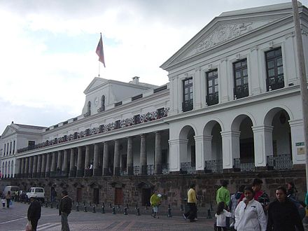 Palacio de Carondelet, the executive branch of the Ecuadorian Government Quito PalaciodeGobierno.JPG