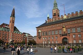 City Hall Square, Copenhagen central square in Copenhagen