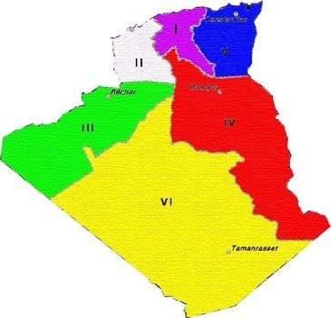 Régions militaires-Algérie