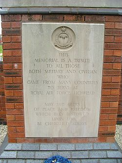 Photo of Royal Air Force Lichfield stone plaque