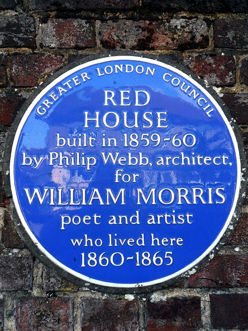 Red house built in 1859 1860 by philip webb architect for william morris poet and artist who lived here 1860 1865