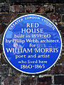 RED HOUSE built in 1859-1860 by Philip Webb architect for WILLIAM MORRIS poet and artist who lived here 1860-1865.jpg