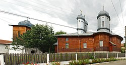 RO BZ Bozioru Archangels church with belfry.jpg