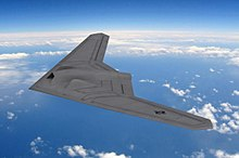 An artists impression of a RQ-170 Sentinel.