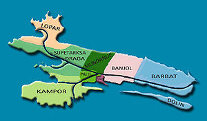 Rab - Map of Rab