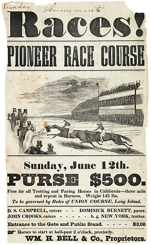 Pioneer Race Course - Image: Races! Pioneer Race Course advertisement