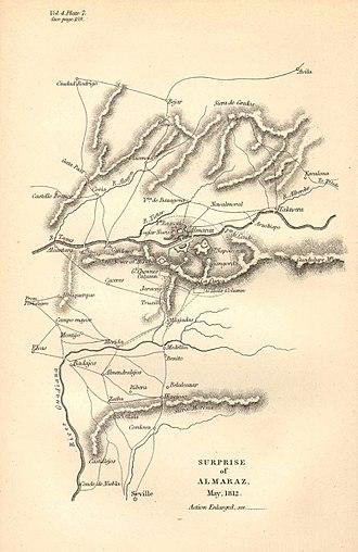 Battle of Almaraz - Image: Raid d'Almaraz, 18 19 mai 1812
