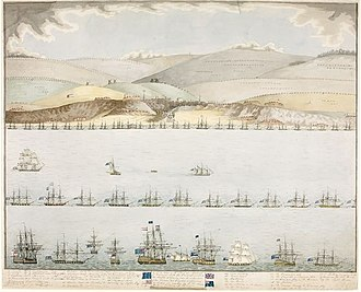 Raid on Boulogne - Image: Raid on Boulogne 1804 colour