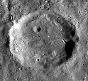 Raimond (crater) - Image: Raimond crater LRO WAC