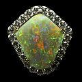 Rainbow Shield Mintabie Opal Pendant.jpg