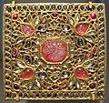 Rajastan, fibbia di cintura in oro, smeraldi, diamanti, rubini e smalti colorati, da jaipur, 1790-1900 ca.JPG