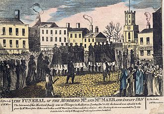 Ratcliff Highway murders - The Marr funeral procession on Sunday, December 15, 1811