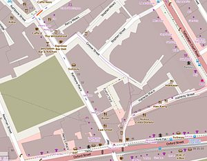 Rathbone Place - The immediate vicinity of Rathbone Place.