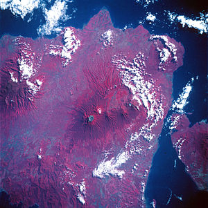 Raung - Color infrared view of Raung Volcano, May 1992