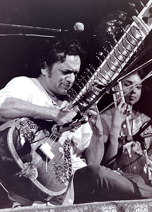 Ravi Shankar, who taught Harrison the sitar (taken in 1969) Ravi Shankar.jpg