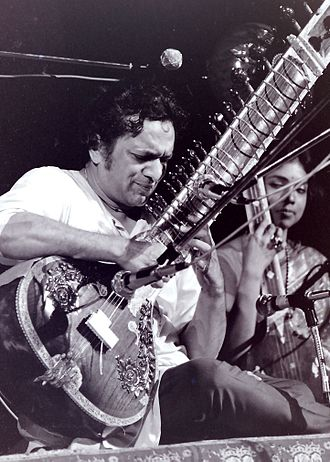 Ravi Shankar - Shankar performing at Woodstock in 1969