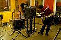 Re-amp setting in progress, Florian and Guy, Marc Morgan album recording, LowSwing studio, Berlin, 2011-01-25 22 26 28.jpg