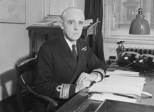 Patrick Brind - Rear Admiral Brind at his desk at the Admiralty during World War II