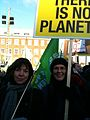 Rebecca Harms and Satu Hassi at the climate summit demo (4181442825).jpg